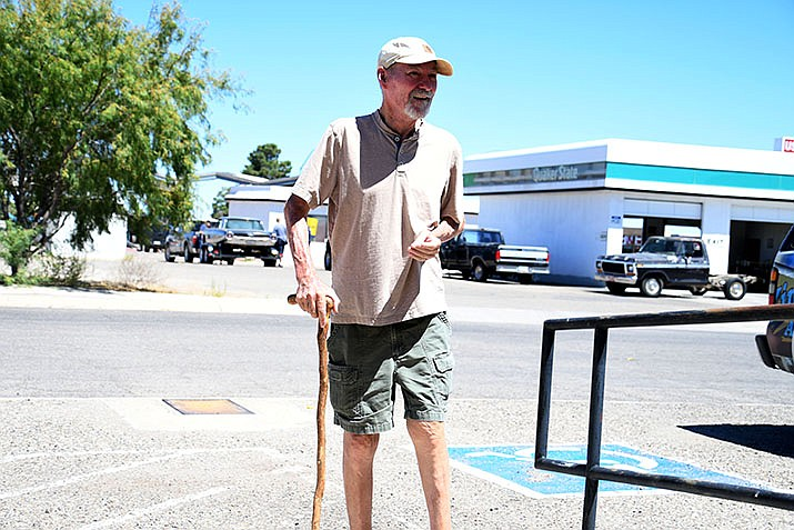 William Macabe says the Americans with Disabilities Act gives disabled persons such as himself a level playing field. However, he has issues with how the City of Kingman handles what he sees as violations. (Photo by Vanessa Espinoza/Daily Miner)