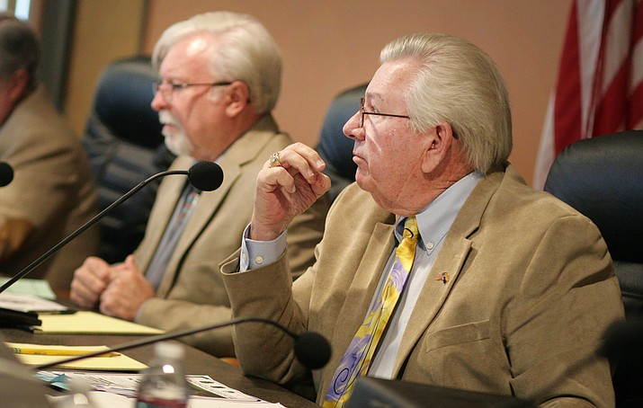 "Craig Brown, vice chairman of the Yavapai County Board of Supervisors, said that agreeing to a design services contract on Ogden Ranch Road before the county has an agreement with the City of Cottonwood is akin to having ""the cart before the horse."" VVN/Bill Helm"