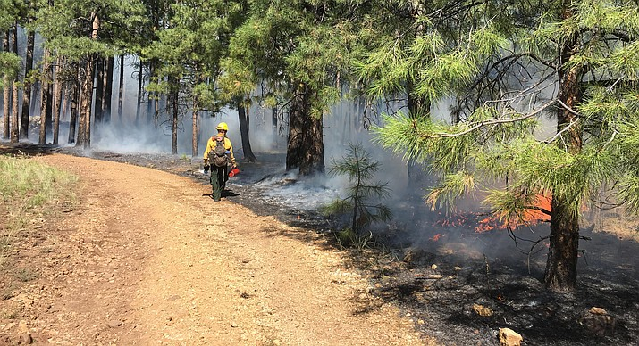 """The Sedona Fire District has suspended all issued burn permits for the burning of yard debris """"due to the continued unseasonably hot weather and lack of monsoonal moisture."""" File photo"""