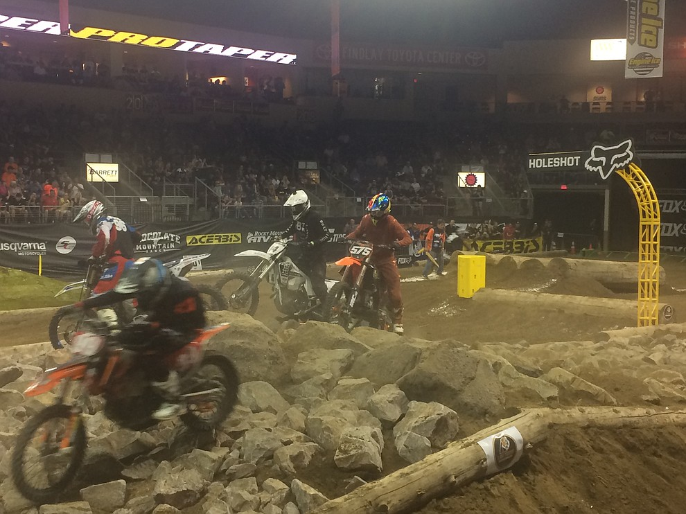 Racers took themselves to the limit at the Findlay Toyota Center Saturday night Aug. 24, for Endurocross Extreme Off-Road Racing. (Jason Wheeler/Courier)