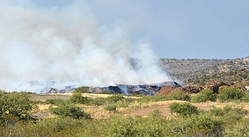 Camp Verde 'Mulch Fire' likely to smolder for months photo