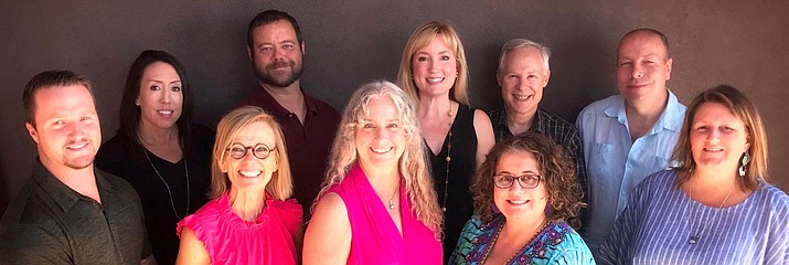 Verde Valley Leadership Class IV members include (Back Row): Brandon Echols, Sara Bowers, Scott Ellis, Michelle Conway, Ben Shor, Steve Hensyel and Clover Pinion.   The three ladies front and center as pictured are:  Linda Shook, Milissa Koel and Jussara Wagner. VVL courtesy photo
