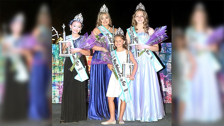 The 2018 Miss Mohave County Fair Pageant winners. Zada Morrow (Junior Miss), Vanessa Martinez (Miss), Rylee Smiley (Young Miss) and Ayveryona Pettway (Teen Miss). (Photo courtesy of Starkydz Showcase)