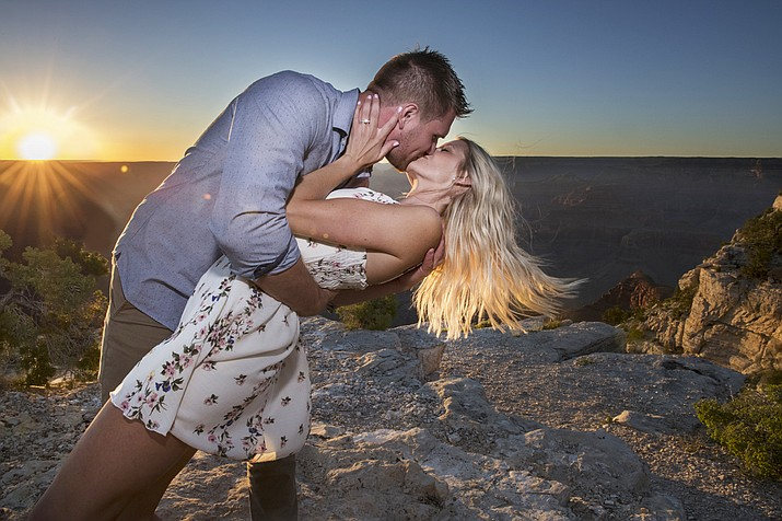 Grand Canyon photographer Ronnie Tierney captures the surprise engagement of Blake Wharton and his fiance Nikki. (Photo courtesy of Fresh Focuses)