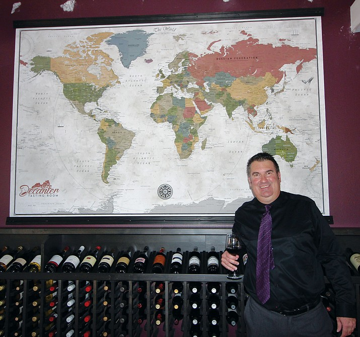 Owner Ken Ewing has opened the Verde Valley's newest wine tasting room, Decanter, along Highway 179, Suite A100, in the center that houses The Collective Sedona in the Village of Oak Creek. VVN/Gary6 Mraz
