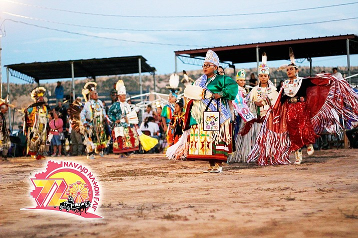 The 2018  72nd Annual Navajo Nation Fair grand entry. The 2019 fair kicks off Sept. 2 - 8, in Window Rock, Arizona. (Photo courtesy of Orin Jay/Navajo Nation Fair Facebook)