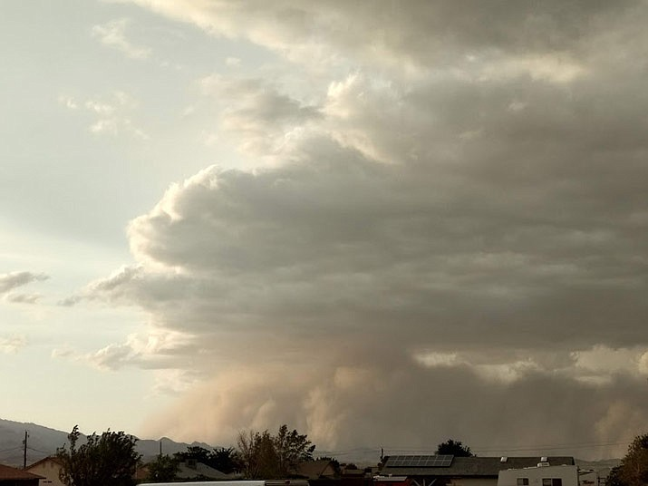 Monsoon clouds are shown over Kingman. Rainfall has been sparse across the Southwest this summer. (Daily Miner file photo)