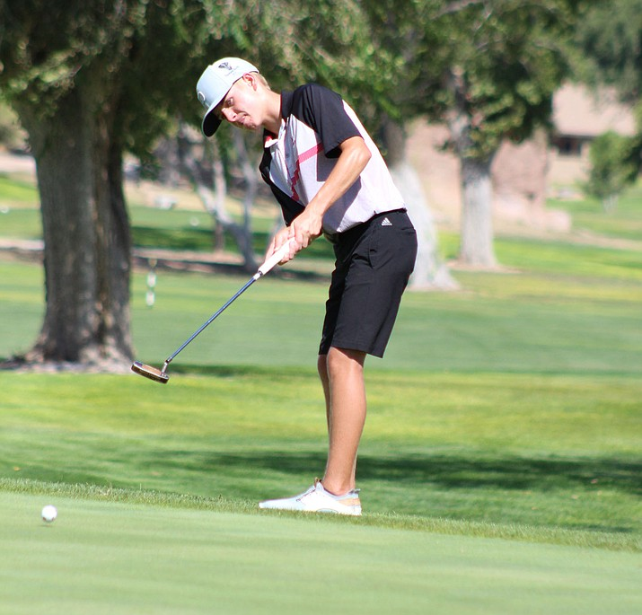 Cole Finch was Lee Williams' top finisher Tuesday with an even-par round of 36 to tie for second. (Photo by Beau Bearden/Daily Miner)