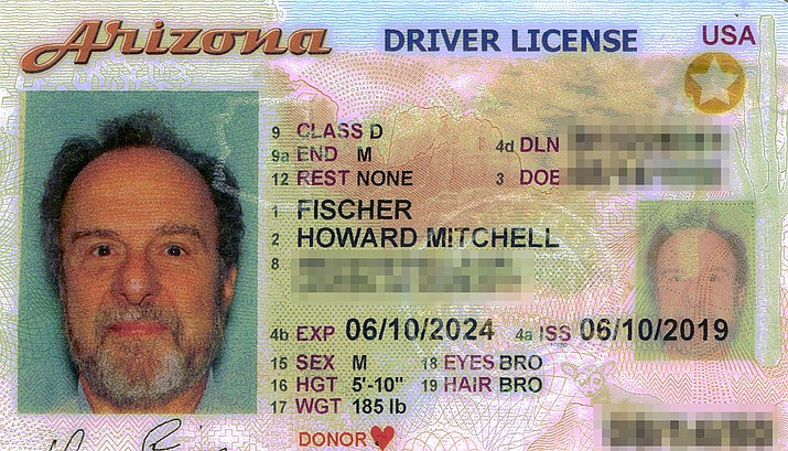 Arizonans will need a license like the one above, with a gold star in the corner, to board aircraft and enter federal buildings next year unless they have a passport or military ID.