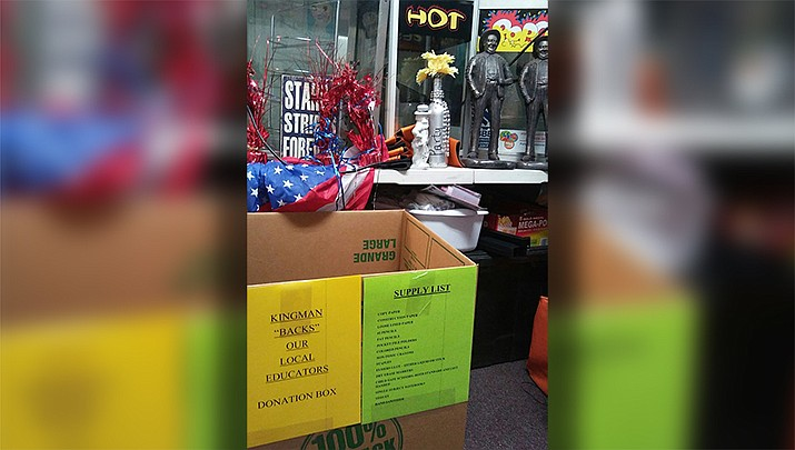 Boxes are located inside businesses around town where people who are willing to donate can drop off supplies. (Courtesy photo)