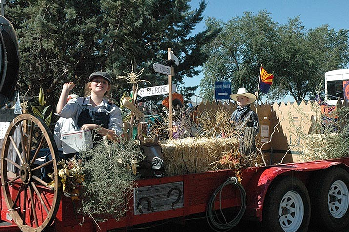 The 'How it Began' float, by Jean Hohman, was in the Chino Valley Territorial Days Parade on Saturday, Aug. 31, 2019. The parade consisted of nearly 30 entries, and kicked off the town's 50th anniversary year. (Jason Wheeler/Prescott News Network)