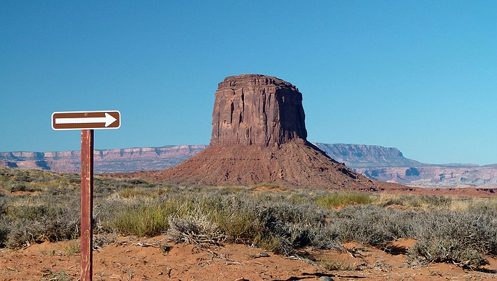Despite vast open spaces, like those in Monument Valley, privately held land on the Navajo Nation can sometimes be split into such small parcels that the land is unusable, one of the reasons for the federal land buyback program. (Photo by penjelly/Creative Commons)
