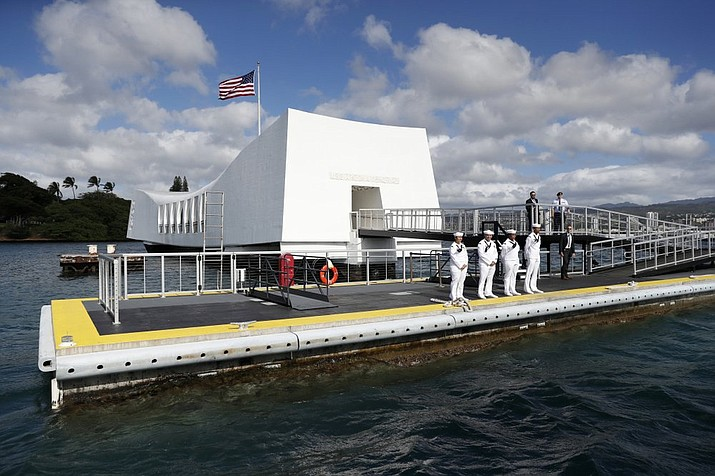 The USS Arizona Memorial in Honolulu, Hawaii reopened Sept. 1 after a 15-month closure for dock repairs. (Carolyn Kaster/Associated Press)