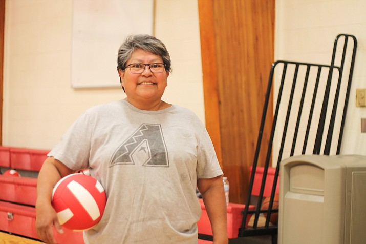 Leona Begishi was hired as the Native American Student Aide at Grand Canyon School in February. Prior to being hired Begishi volunteered at the school. (Erin Ford/WGCN)