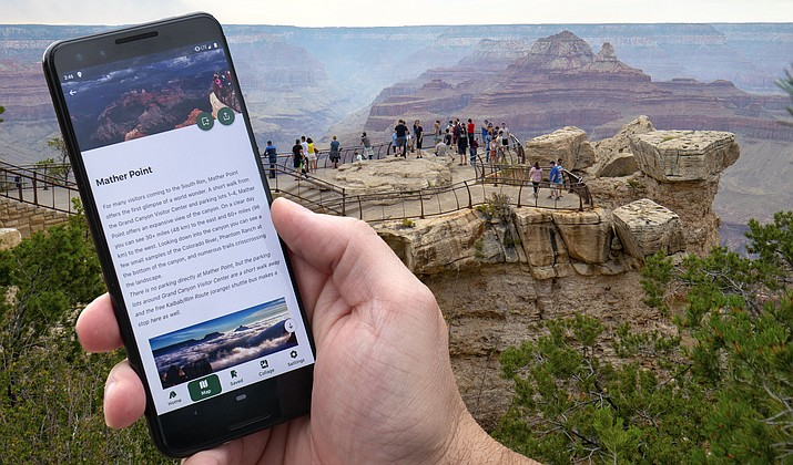 Grand Canyon National Park joins multiple national parks across the country by offering an official park app. This free app is available for download for iPhone and Android mobile phones. Cellular service and Wi-Fi locations are limited within the park, so visitors are encouraged to download the app and all of its offline content before arriving for the best user experience. (Mike Quinn/NPS)
