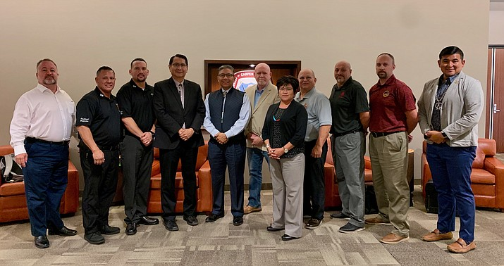 The Navajo Nation is seeking partnerships in an effort to build homes and teach carpentry to the Navajo people. Above: Navajo Nation officials meet with the United Brotherhood of Carpenters in Las Vegas, Nevada Aug. 22. (Photo/OPVP)