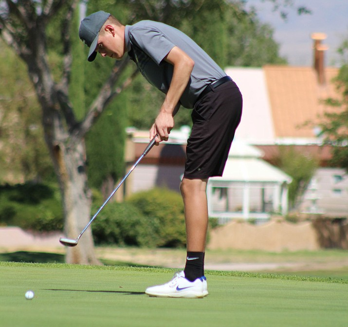 Kingman's Coleton Padilla finished sixth Tuesday with a 9-over 45 as the Bulldogs battled Prescott and Mohave. (Daily Miner file photo)
