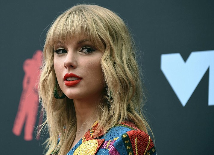 In this Aug. 26, 2019 file photo, Taylor Swift arrives at the MTV Video Music Awards in Newark, N.J. Richard Joseph McEwan, of Milford, N.J., was arrested on Friday, Aug. 30, and charged with breaking into Swift's Westerly, R.I., oceanfront house. (Photo by Evan Agostini/Invision/AP, File)