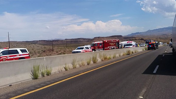 Southbound Highway 93 traffic is restricted. (Stephanie Cox-Short)