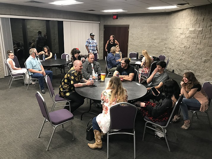 Nerves are on edge in the green room at Yavapai College Performance Hall as the finalists in the 2019 Prescott Sings event wait for their turn to sing in the finale Thursday, Sept. 5, 2019. Due to late-night results, look for a full story and a photo gallery in Saturday's Courier and online at dCourier.com. (Les Stukenberg/Courier)