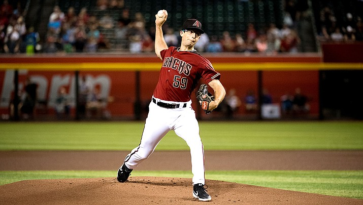 Zac Gallen tossed a one-hitter with eight strikeouts and one walk Wednesday night as the D-backs beat the Padres 4-1. (Photo courtesy of Sarah Sachs/Arizona Diamondbacks)