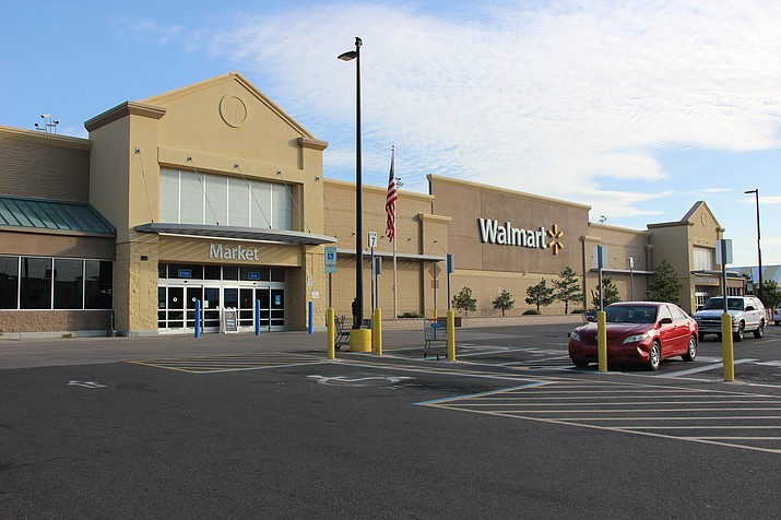 The Walmart off of Gail Gardner Way in Prescott on Thursday, Sept. 5, 2019. Walmart company will no longer be selling handgun or short-barrel rifle ammunition, and has also asked customers to not openly carry firearms in stores. (Max Efrein/Courier)