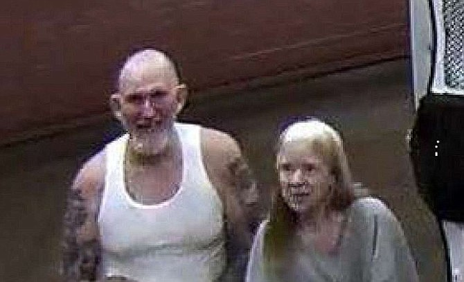 This newly-released photo was taken at San Juan County Jail where murder suspects Blane Barksdale and his wife Susan Barksdale were housed the night before they escaped. (U.S. Marshals)