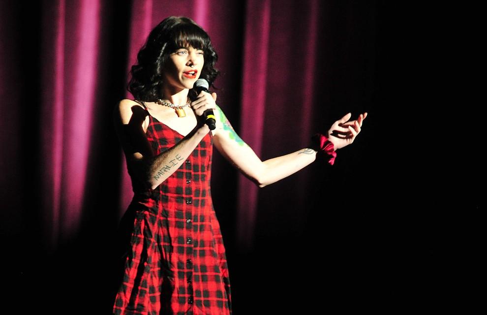 "Nicolette Stefanic, from Prescott, sings ""Black Hore & The Cherry Tree"" during the finale of the 2019 Prescott Sings Competition Thursday, Sept. 5, 2019, at the Yavapai College Performing Arts Center in Prescott.  (Les Stukenberg/Courier)"