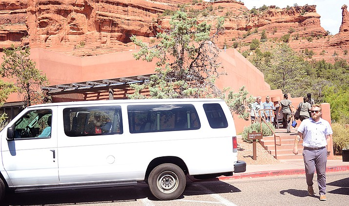 The Enchantment Resort bus runs from Clarkdale and Cottonwood to Sedona and is popular enough that almost 20 percent of the Sedona resort's employees have taken advantage of the service, . VVN/Vyto Starinskas
