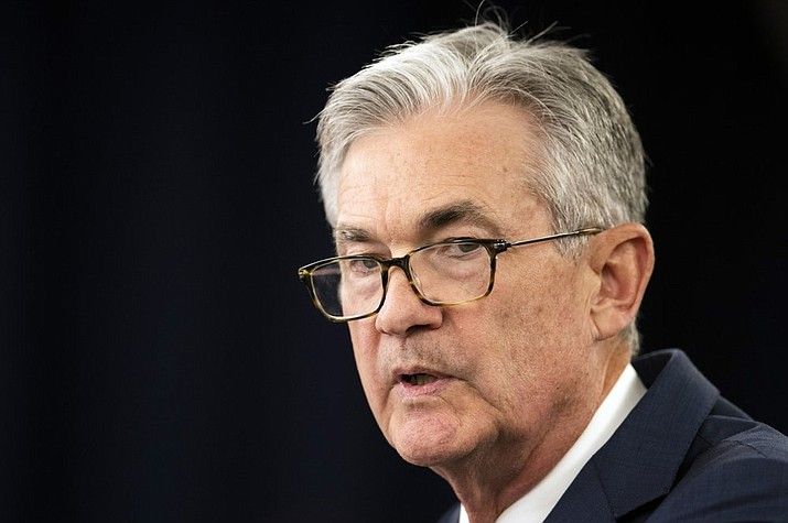 In this July 31, 2019, file photo, Federal Reserve Chairman Jerome Powell speaks during a news conference following a two-day Federal Open Market Committee meeting in Washington. Federal Reserve Chairman Jerome Powell said Friday, Sept. 6, 2019 that the Fed is not expecting a U.S. or global recession. (AP photo)