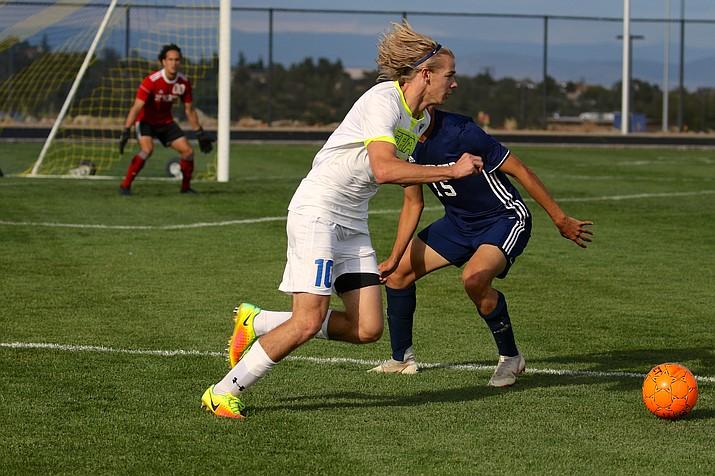 Senior forward Mason Laaksonen (10) of the Embry-Riddle men's soccer team. (ERAU Athletics/Courtesy)