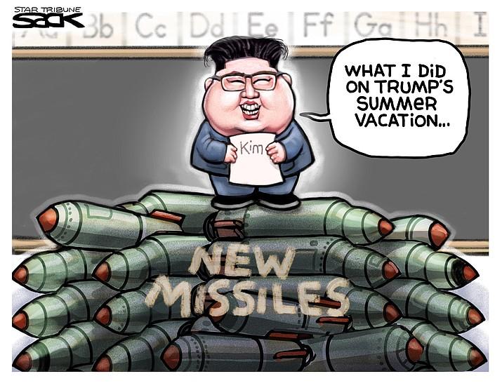 Editorial cartoon (1): Sept. 9, 2019