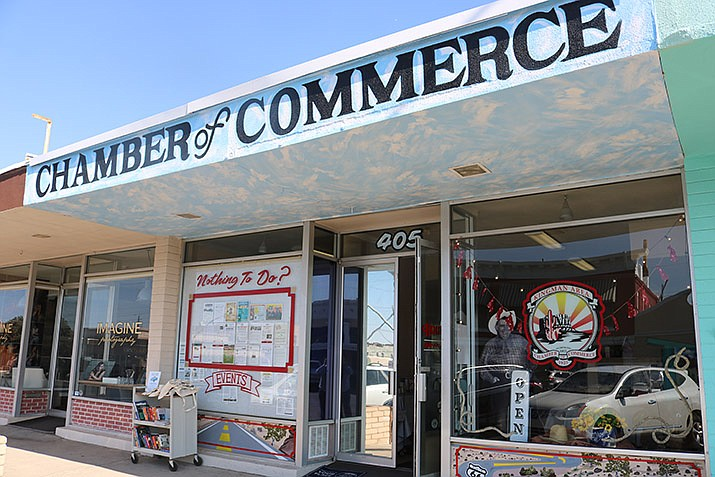 The Kingman Area Chamber of Commerce wants to reinvigorate Kingman with the community spirit by encouraging local businesses to decorate their storefronts for Andy Week. (Photo by Travis Rains/Daily Miner)