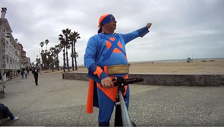"Jordan Margolis in one of his ""Excuseman"" YouTube videos. (YouTube)"