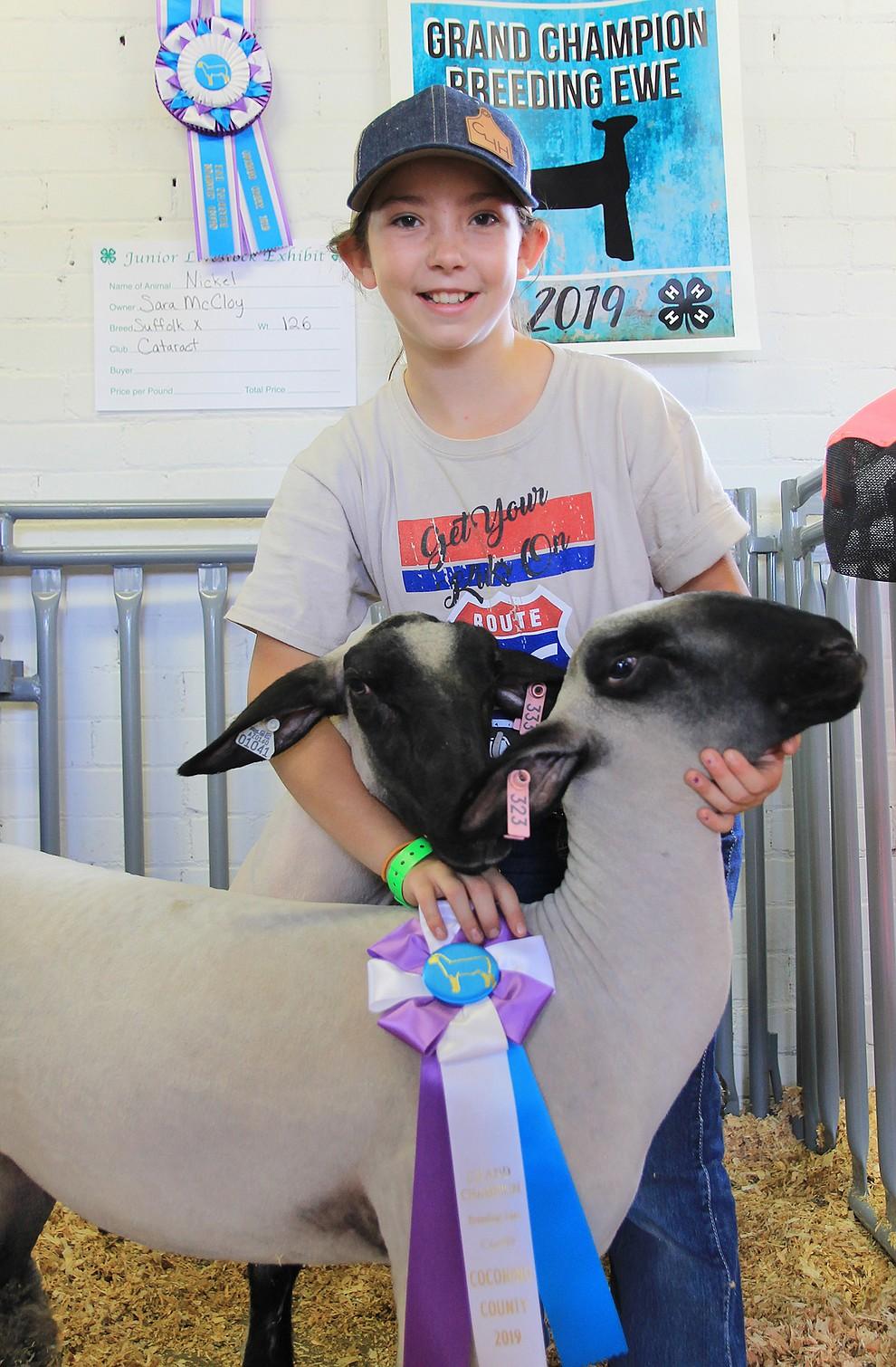 Sara McCloy was Grand Champion Breeding Ewe. (Wendy Howell/WGCN)