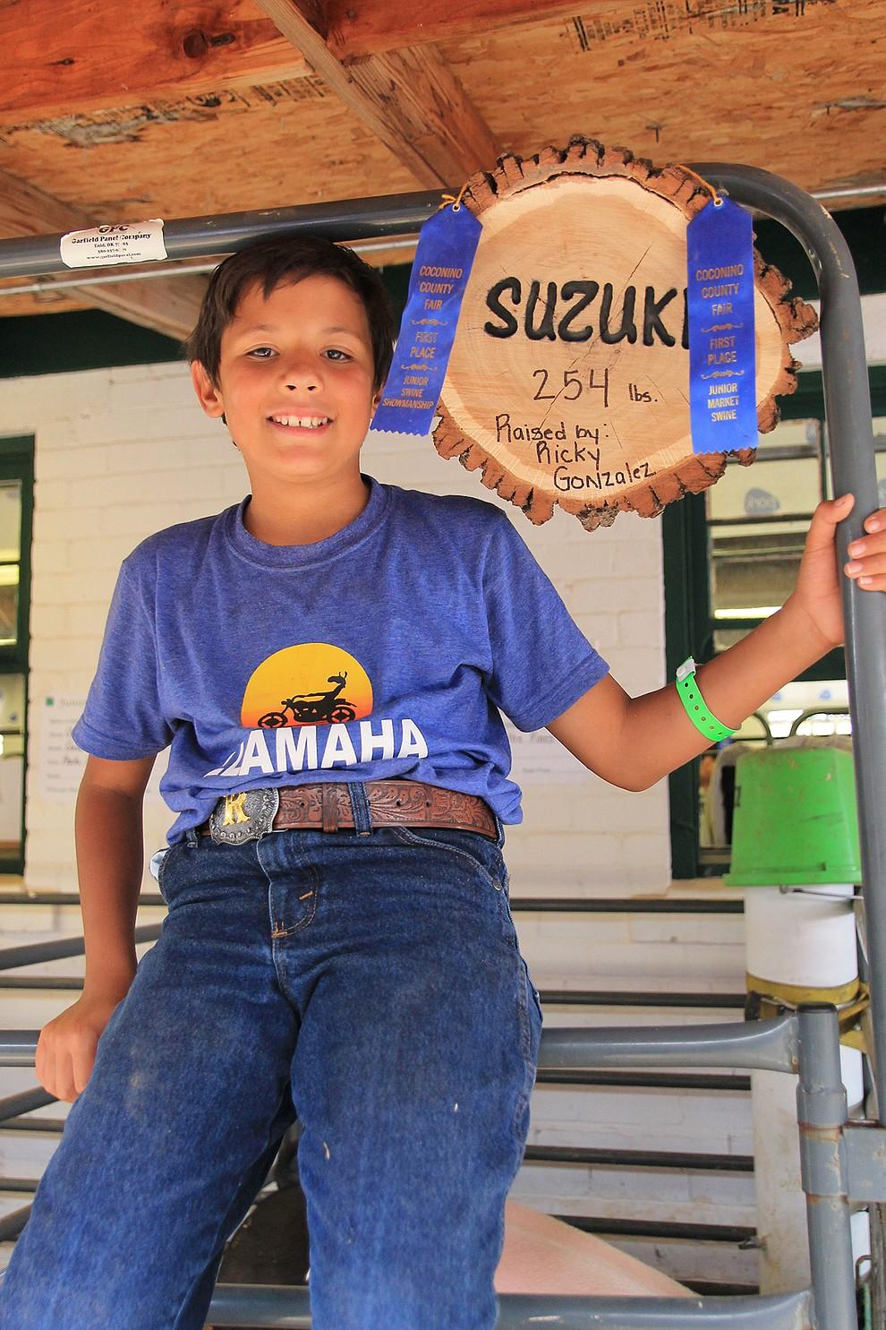 Ricky Gonzalez was a swine and poultry blue ribbon winner. (Wendy Howell/WGCN)