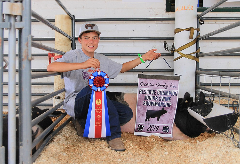 Raymond Gonzalez won Reserve Champion Juior Swine Showmanship. (Wendy Howell/WGCN)