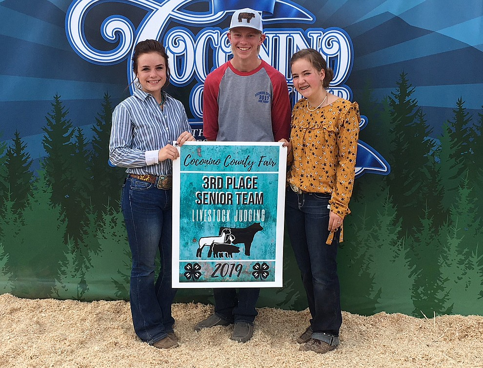 Kody Kelley and Ellie Cameron were part of the team that won third place in the senior team livestock judging. (Submitted photo)
