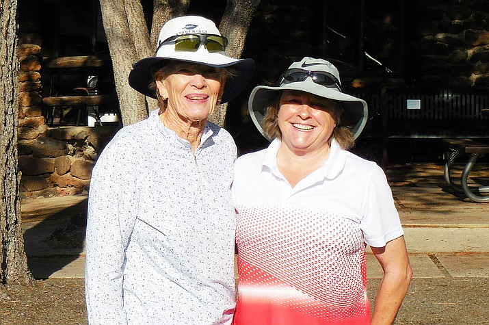 In a close final match played at Elephant Rocks Golf Course, Suzie Hite (right) defeated Janet Cothren (left) to win the Elephant Rocks Women's Golf Association President's Cup. Earlier in the season. (Photo/L. Lea)