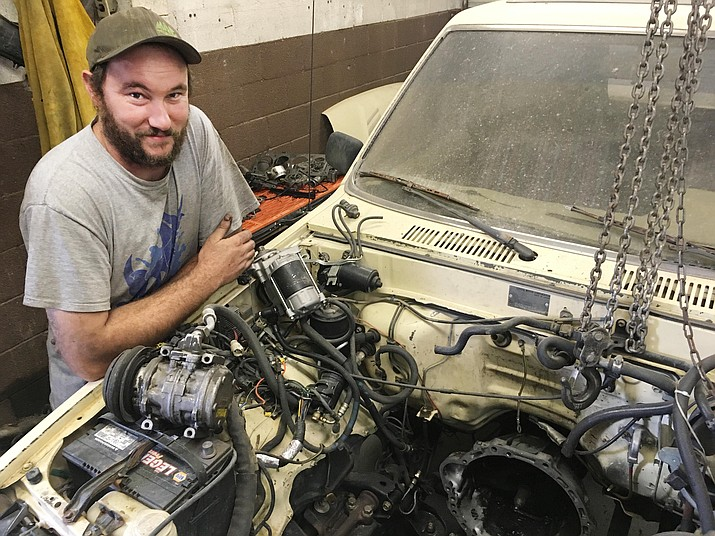 Since age 2, Alex Ferguson has been taking things apart to challenge himself. Ferguson now owns and operates Rimrock Auto and Cycle, at 3180 E. Beaver Creek Road. VVN/Bill Helm
