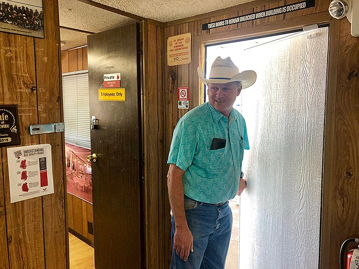 Fairgrounds Manager Tim Woods is busy at the Fair headquarters Monday Sept. 9. (Photo by Agata Popeda/Daily Miner)
