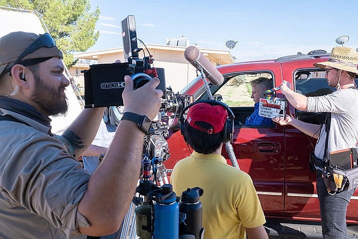 """Aidan Quinn stars in """"Spiked,"""" written and directed by Juan Martinez Vera and filmed on location in Arizona. The film tells the story of the murder of a migrant worker, an event that shakes a Southwest border town to its core. (Courtesy photo by Shaun Monahan)"""