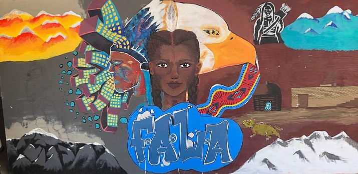Flagstaff Arts and Leadership Academy's Native American Club students painted the mural last year as they take pride in and share their culture with other high schools.  (Photo courtesy of FALA)