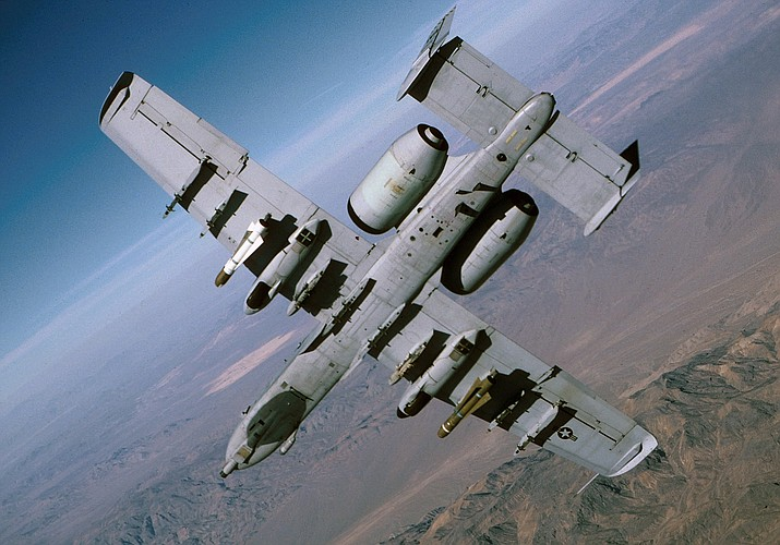 An A-10C Thunderbolt II fighter jet on a training mission accidentally fired a rocket near Tucson Sept. 5. (Photo/USAF)