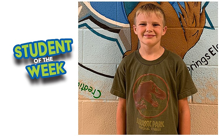 Kolby has been named this week's HUSD Student of the Week