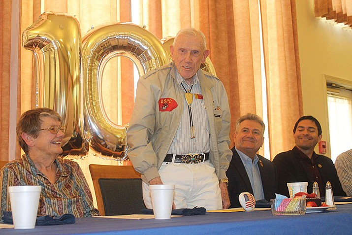 Al Long turned 100 years old on Monday, and the accomplishment was met with friends and multiple dignitaries wishing the newest centenarian a happy birthday during a luncheon at Prestige Assisted Living at Lake Havasu. (Photo by Michael Zogg/Today's News-Herald)