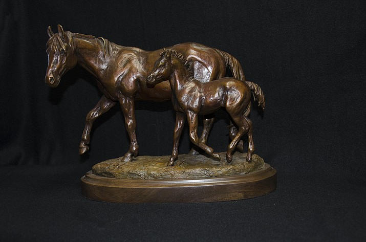 This bronze artwork by Cynthia Rigden is one of 15 editions available. (Phippen Museum/Courtesy)
