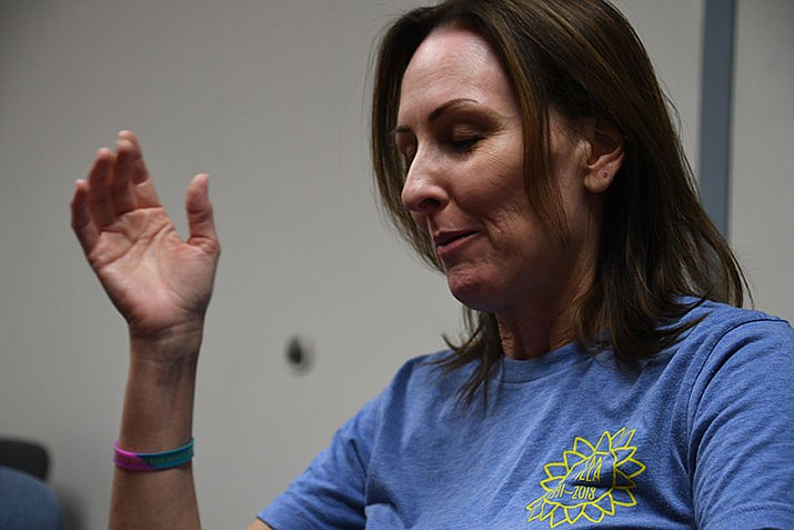 Michele Conley, whose daughter Sami took her own life in January 2018, speaks to how she believes the stigma surrounding mental health may have deterred her daughter from seeking help. (Photo by Vanessa Espinoza/Daily Miner)