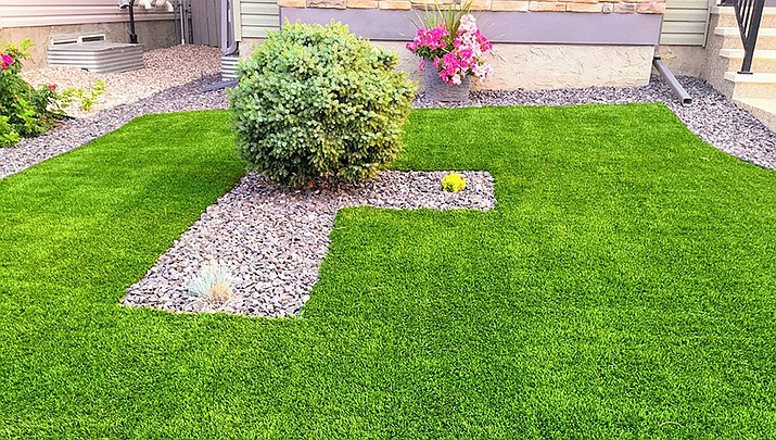Artificial turf may be fake grass, but it sure looks real. (Courier file)