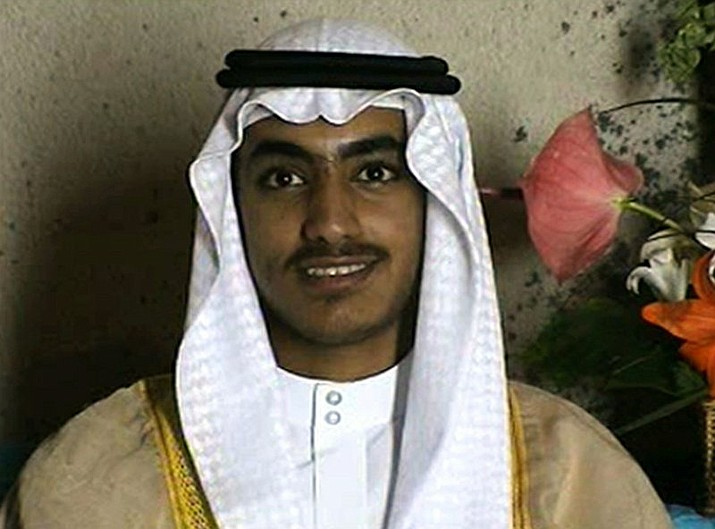 In this image from video released by the CIA, Hamza bin Laden, the son of of the late al-Qaida leader Osama bin Laden is seen as an adult at his wedding. The White House says Hamza bin Laden has been killed in a U.S. counterterrorism operation in the Afghanistan-Pakistan region. (CIA photo)